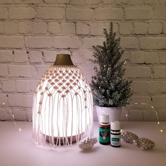 Young Living Desert Mist Diffuser w/ macrame cover
